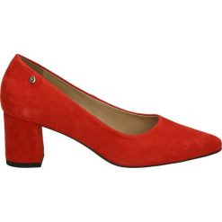 Czółenka - 051 CAM ROSSO. Czerwone buty ślubne damskie Venezia, ze skóry. Za 189,00 zł.
