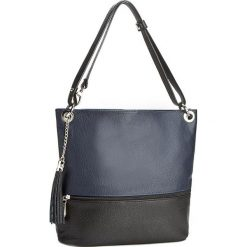 Torebka CREOLE - RBI1109 Czarny Granatowy. Czarne torebki klasyczne damskie Creole, ze skóry. W wyprzedaży za 219,00 zł.