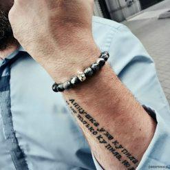 Biżuteria i zegarki: Bransoletka męska SILVER MASTER