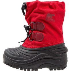 Sorel SUPER TROOPER Śniegowce bright red. Czarne buty zimowe damskie marki Sorel, z materiału. W wyprzedaży za 181,35 zł.