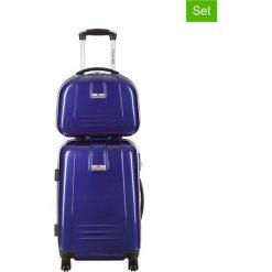 Walizki: 2-częściowy zestaw – walizka, kufer kosmetyczny