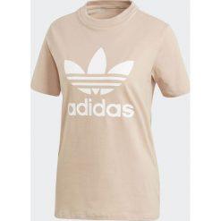 Adidas Koszulka damska Originals Treofil beżowa r. 34 (CV9894). Czarne bluzki damskie marki Adidas, do piłki nożnej. Za 112,35 zł.