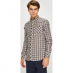 Tokyo Laundry - Koszula. Szare koszule męskie na spinki marki S.Oliver, l, z bawełny, z włoskim kołnierzykiem, z długim rękawem. Za 99,90 zł.