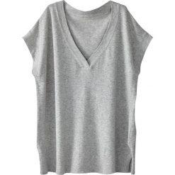 Sweter-tunika z dekoltem V, krótki rękaw, bawełna. Szare tuniki damskie marki La Redoute Collections, m, z bawełny, z kapturem. Za 88,16 zł.