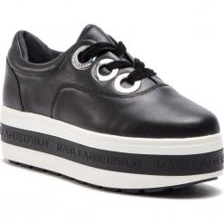 Sneakersy KARL LAGERFELD - KL61440  Black Lthr. Czarne sneakersy damskie KARL LAGERFELD, z materiału. Za 839,00 zł.