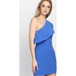 Ciemnoniebieska Sukienka Loves Me Like You Do. Niebieskie sukienki letnie marki Born2be, s, mini. Za 64,99 zł.