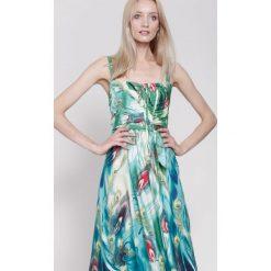 Sukienki hiszpanki: Miętowa Sukienka Magical Objects