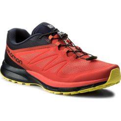 Buty SALOMON - Sense Pro 2 402379 30 W0 Fiery Red/Night Sky/Sulphur Spring. Czerwone buty do biegania męskie marki Salomon, z materiału, na sznurówki. W wyprzedaży za 389,00 zł.
