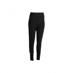 Spodnie dresowe fitness damskie. Czarne bryczesy damskie DOMYOS, l, z bawełny, na fitness i siłownię. Za 79,99 zł.