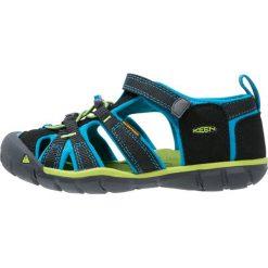 Keen SEACAMP II CNX Sandały trekkingowe black/blue danube. Czerwone sandały chłopięce marki Keen, z materiału. Za 239,00 zł.