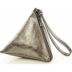 Torebki klasyczne damskie: Piramidka skórzana torebka wizytowa SIENA złoty