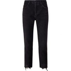 Agolde JAMIE Jeansy Straight Leg plume. Czarne jeansy damskie Agolde. Za 919,00 zł.