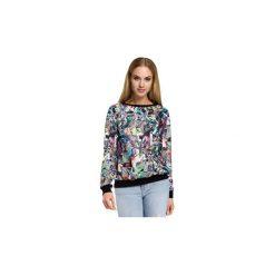 Bluzy Moe  M264 Bluza ze ściągaczem. Szare bluzy rozpinane damskie Moe, l. Za 99,00 zł.