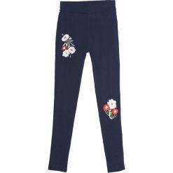Spodnie damskie: Granatowe Legginsy Back 2 U