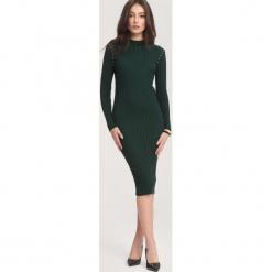 Ciemnozielona Sukienka Powder Grey. Zielone sukienki dzianinowe marki other, na jesień, l. Za 79,99 zł.