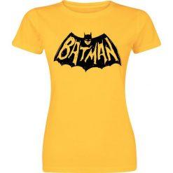 Batman Graffiti Logo Koszulka damska czarny. T-shirty damskie marki Batman, m, z motywem z bajki, z okrągłym kołnierzem. Za 42,90 zł.