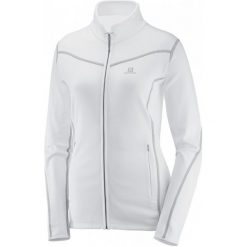 Salomon Bluza Polarowa Atlantis Fz W White S. Białe bluzy polarowe marki Salomon, s. W wyprzedaży za 309,00 zł.