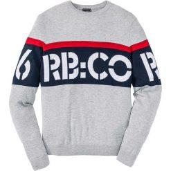 Sweter Regular Fit bonprix jasnoszary melanż. Szare swetry klasyczne męskie marki bonprix, l, melanż, z kontrastowym kołnierzykiem. Za 59,99 zł.