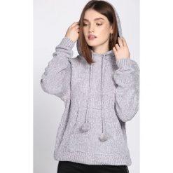 Jasnoszary Sweter Erratic. Szare swetry klasyczne damskie marki Reserved, m, z kapturem. Za 89,99 zł.