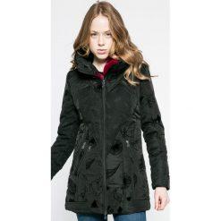 Desigual - Kurtka. Szare kurtki damskie marki Desigual, l, z tkaniny, casualowe, z długim rękawem. W wyprzedaży za 499,90 zł.