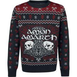Amon Amarth Holiday Sweater 2018 Sweter z dzianiny wielokolorowy. Czarne swetry klasyczne męskie Amon Amarth, m, z napisami, z dzianiny, z dekoltem na plecach. Za 264,90 zł.