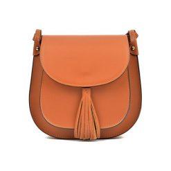 Torebka w kolorze koniaku - (S)24 x (W)22 x (G)6,5 cm. Brązowe torebki klasyczne damskie Bestsellers bags, w paski, z materiału. W wyprzedaży za 249,95 zł.