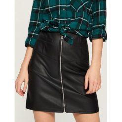 Spódniczki: Spódnica z zamkiem - Czarny