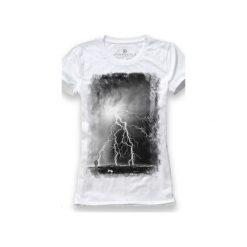 Koszulka UNDERWORLD Ring spun cotton Burza. Białe t-shirty damskie marki Underworld, m, z nadrukiem, z bawełny. Za 59,99 zł.