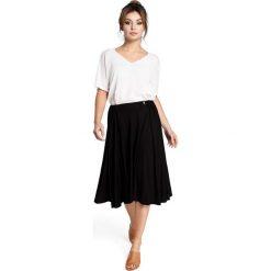 DOMINICA Spódnica rozkloszowana z gumką - czarna. Czarne spódnice wieczorowe BE, l, w paski, midi, oversize. Za 119,00 zł.