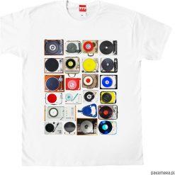 Koszulka GRAMOFONY 23. Czarne bluzki z odkrytymi ramionami marki Pakamera, m, z kapturem. Za 77,00 zł.