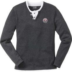 Sweter Regular Fit bonprix antracytowy melanż. Szare swetry klasyczne męskie marki bonprix, m, z aplikacjami. Za 59,99 zł.