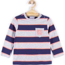 Koszulka. Szare t-shirty chłopięce z długim rękawem HEY BOY, z aplikacjami, z bawełny. Za 34,90 zł.