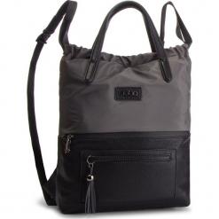 Plecak NOBO - NBAG-F4330-C019 Czarny Szary. Czarne plecaki damskie marki Nobo, z materiału, klasyczne. W wyprzedaży za 159,00 zł.