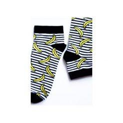 Skarpetki stopki Bananowy Uśmiech. Żółte skarpetki męskie Edyta kleist, w paski, z bawełny. Za 20,00 zł.