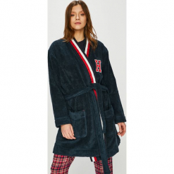 Tommy Hilfiger - Szlafrok. Czarne szlafroki kimona damskie TOMMY HILFIGER, l, z bawełny. Za 599,90 zł.