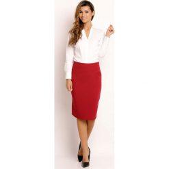 Spódniczki: Bordowa Spódnica Klasyczna Ołówkowa Midi