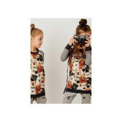 Bluza PUPPY. Szare bluzy dziewczęce rozpinane marki CudiKiDS, melanż, z bawełny, z długim rękawem, długie. Za 63,20 zł.