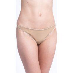 Calvin Klein Underwear - Stringi. Różowe stringi Calvin Klein Underwear, l, z dzianiny. Za 89,90 zł.