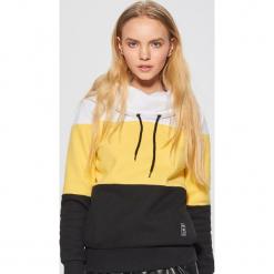 Wzorzysta bluza z kołnierzem - Żółty. Czerwone bluzy damskie marki Cropp, l. Za 89,99 zł.