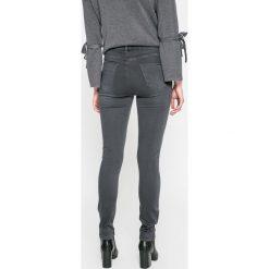 Answear - Jeansy. Szare jeansy damskie rurki marki ANSWEAR, z bawełny, z podwyższonym stanem. W wyprzedaży za 99,90 zł.