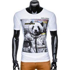 T-shirty męskie z nadrukiem: T-SHIRT MĘSKI Z NADRUKIEM S923 - BIAŁY
