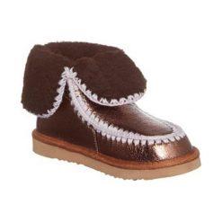 Botki w kolorze brązowozłotym. Brązowe buty zimowe damskie Carla Samuel, na zimę. W wyprzedaży za 207,95 zł.