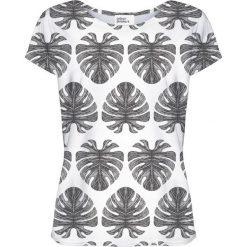 Colour Pleasure Koszulka damska CP-034 273 biało-czarna r. XXXL/XXXXL. Białe bluzki damskie Colour pleasure. Za 70,35 zł.