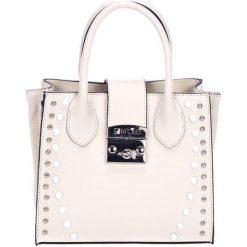 Torebki klasyczne damskie: Skórzana torebka w kolorze beżowym – (S)23 x (W)30 x (G)11 cm
