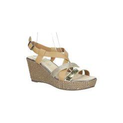 Rzymianki damskie: Sandały Casu  Sandały na koturnie  BZF5A15426H1