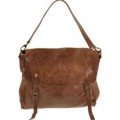 Torebki klasyczne damskie: Skórzana torebka w kolorze brązowym – 35 x 27 x 18 cm