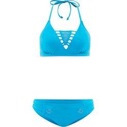 Stroje dwuczęściowe damskie: Bikini z trójkątnymi miseczkami (2 części) bonprix turkusowy