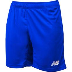 Spodenki treningowe EMS6130TRY. Niebieskie spodenki sportowe męskie New Balance, m, z materiału, do piłki nożnej. Za 79,99 zł.