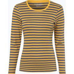 Brookshire - Damska koszulka z długim rękawem, żółty. Czarne t-shirty damskie marki brookshire, m, w paski, z dżerseju. Za 89,95 zł.