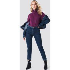NA-KD Bluza z suwakiem - Purple. Fioletowe bluzy rozpinane damskie marki NA-KD, z bawełny, z długim rękawem, długie. W wyprzedaży za 48,78 zł.